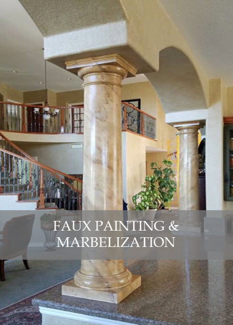 Faux painting and marbleization by Designs by Edwina