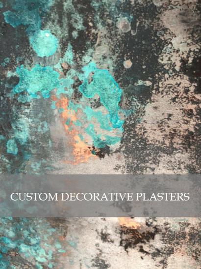 Custom Decorative Plasters by Designs by Edwina