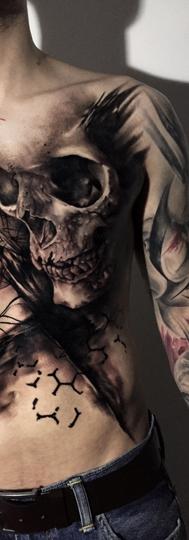 Skull TrashPolka Tattoo