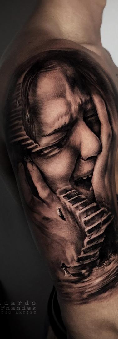 Girl Tattoo Sufer