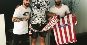 Emiliano Velazquez do Atlético de Madrid tatuado na Exink