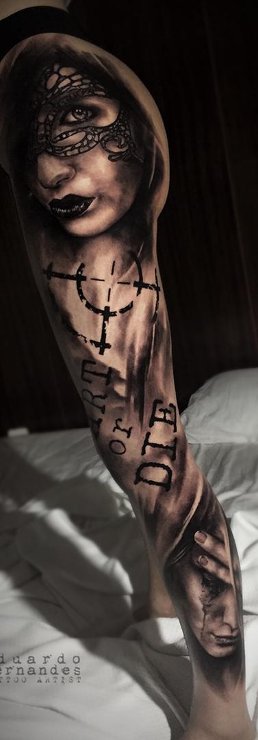 Leg Girl Tattoo