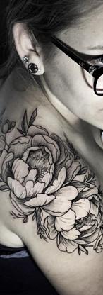 Flowers Line Tattoo