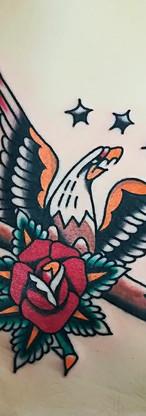 Eagle Rose Old School Tattoo