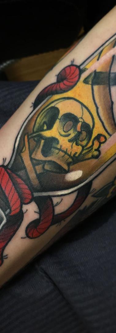 Skull Pirate NeoTradicional Tattoo