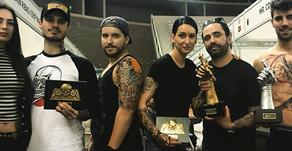 Eduardo Fernandes e Manuel Ribau vencem 1º Lugar e 3º Lugar na convenção Oporto Tattoo 2018