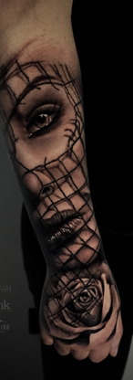 Girl Rose Tattoo
