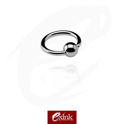 Ball Closure Ring em aço cirúrgico de 1.2MM - 6MM, 8MM, 10MM