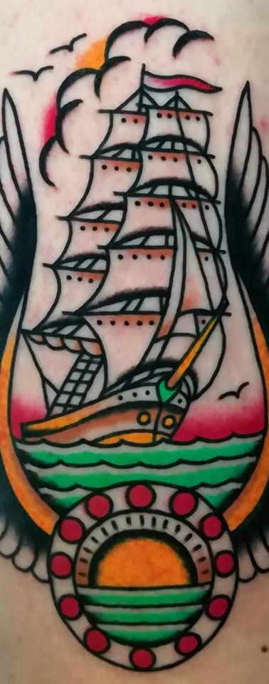 Boat Old School Tattoo