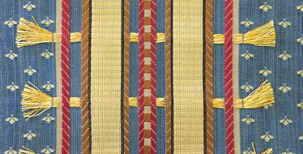 Blue - Gold - Red - Small Gold Tassel