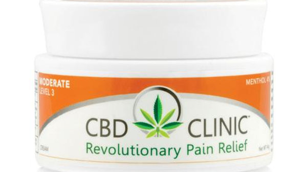 CBD CLINIC LEVEL 3 – 44gm MODERATE MUSCLE & JOINT PAIN RELIEF