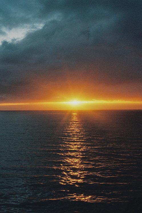 San Diego Sunset Framed Print by Artist Haley Busch - 8 x 12