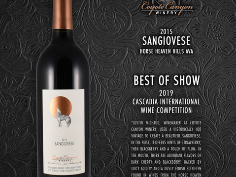 Best of Show Awarded to CCW 2015 Sangiovese