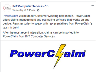 PowerClaim / IMT Computer Services Integration
