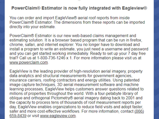 PowerClaim / EagleView Integration