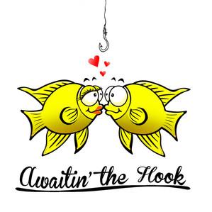 Awaitin' the Hook Koozie Design