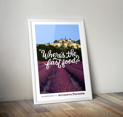 Authentic Provence Poster Design