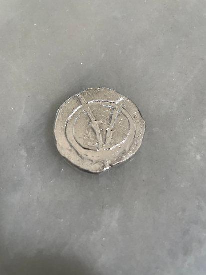 Silver channel round 1.22 ozt +.999 fine #20