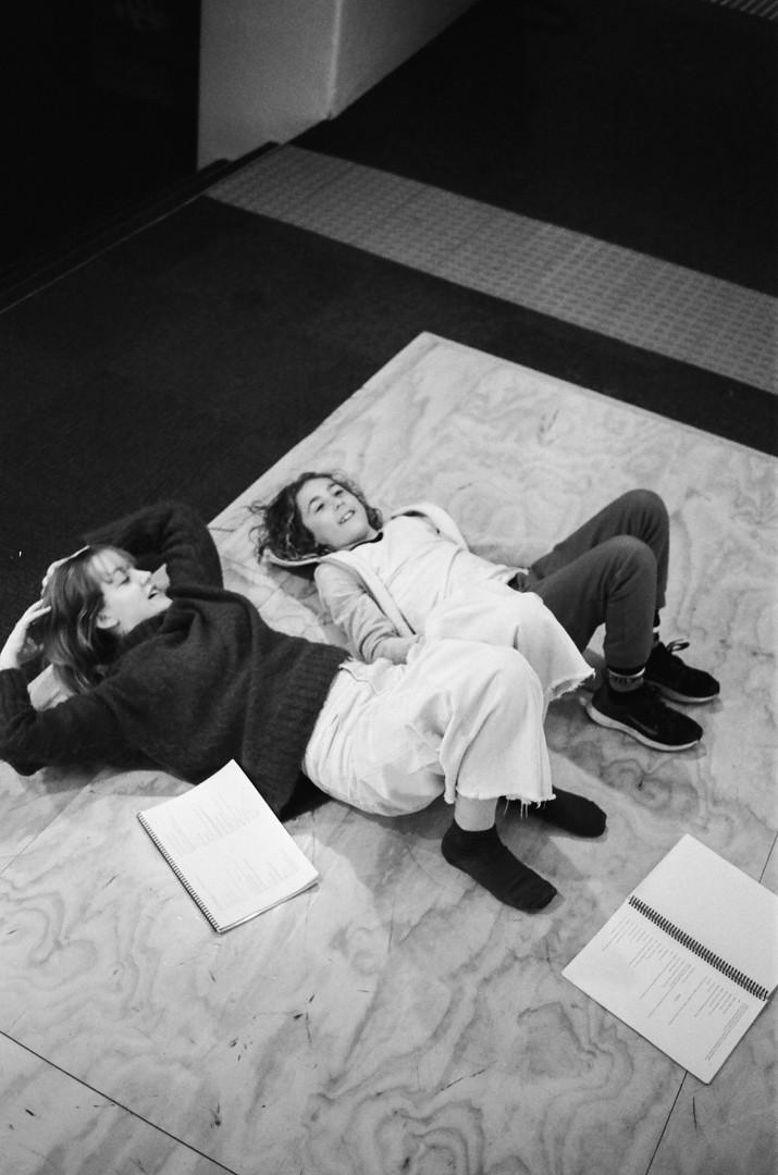 Markella Kavenagh and Sol Feldman in Rehearsal