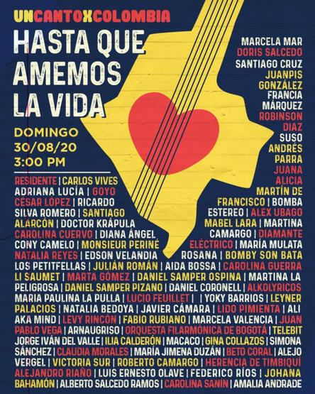 Cartel Un Canto por Colombia.