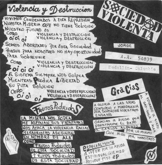 Split Rasix y Sociedad Violenta (1989)