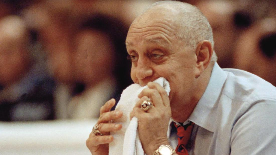 Jerry Tarkanian salivating into his towel at the prospect of eating someone's liver with a can of fava beans and a nice chianti