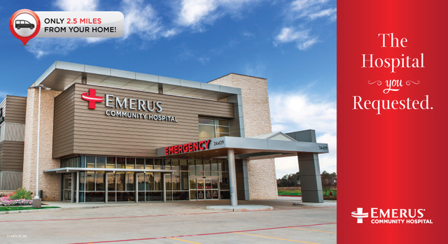 Emerus New Hospital Postcard Front