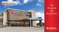 Emerus New Hospital Postcard Front