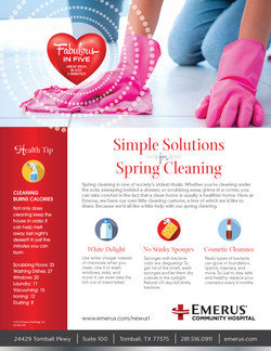 Emerus Spring Cleaning Ad / Handout