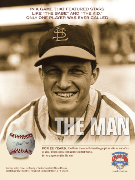 Cardinals Hall of Fame Musial Poster