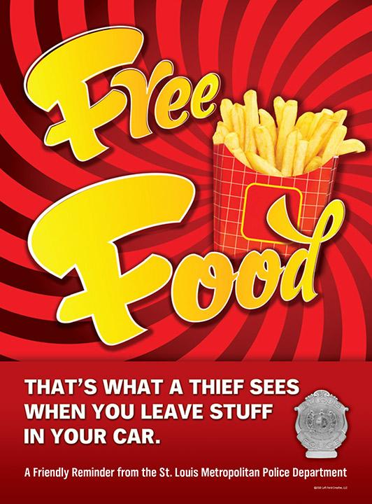 Free Food Anti-Crime Poster