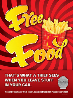 Free Food Anti-Crime Poster