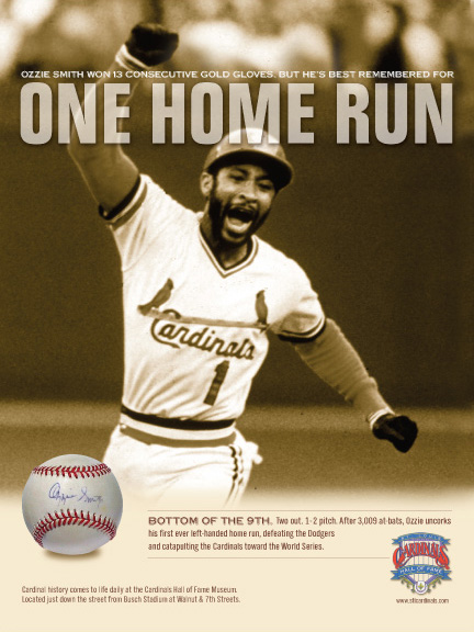 Cardinals Hall of Fame Ozzie Poster