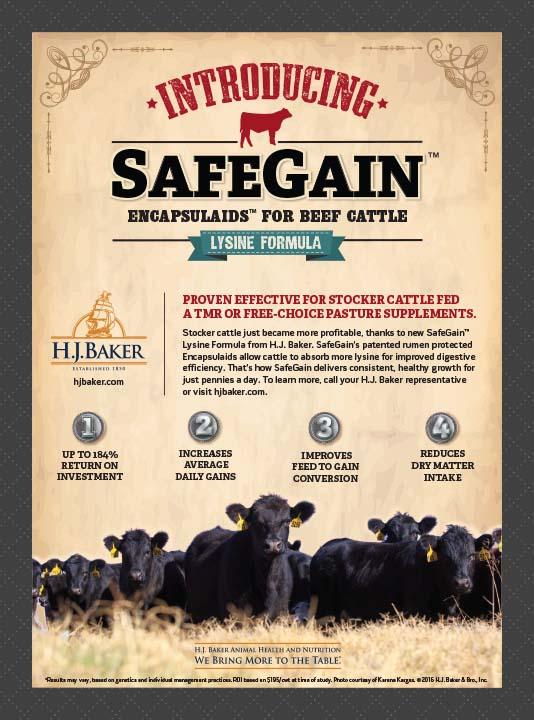H.J. Baker SafeGain Pasture Ad