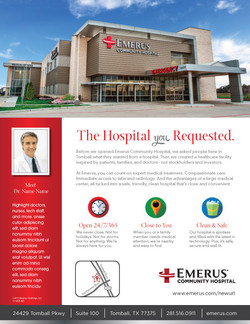 Emerus The Hospital You Requested Ad