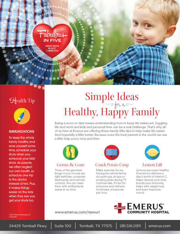 Emerus Healthy Family Ad / Handout