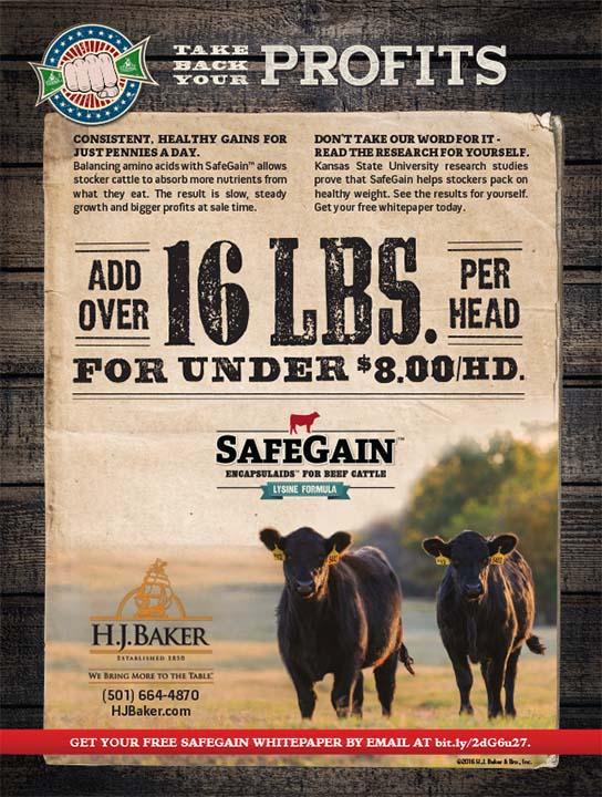 H.J. Baker SafeGain 16 lbs. Ad