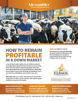 H.J. Baker MetaboMet Down Market Ad
