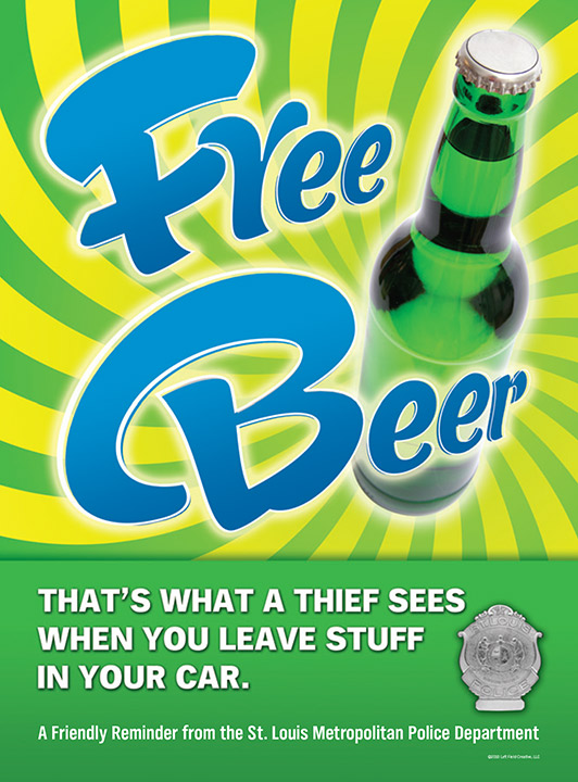 Free Beer Anti-Crime Poster