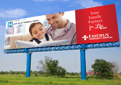 Emerus Partner For Life Billboard