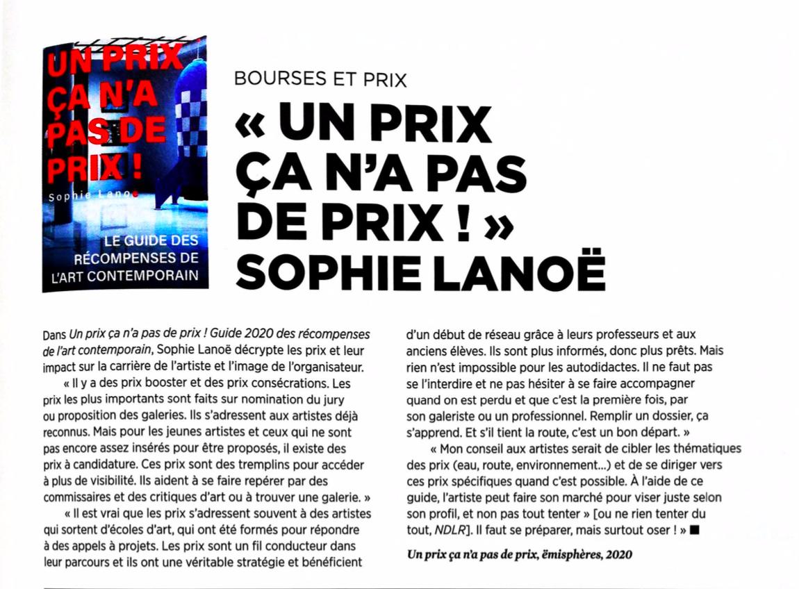 Interview du magazine Artension