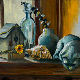 Still Life With Birdhouse