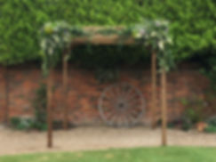 Our chuppah exuding simplicity and charm - The Rustic