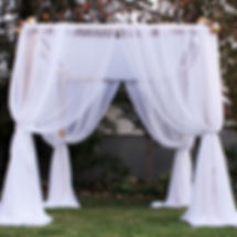 Our chuppah displaying adaptability and versatility - The Bamboo