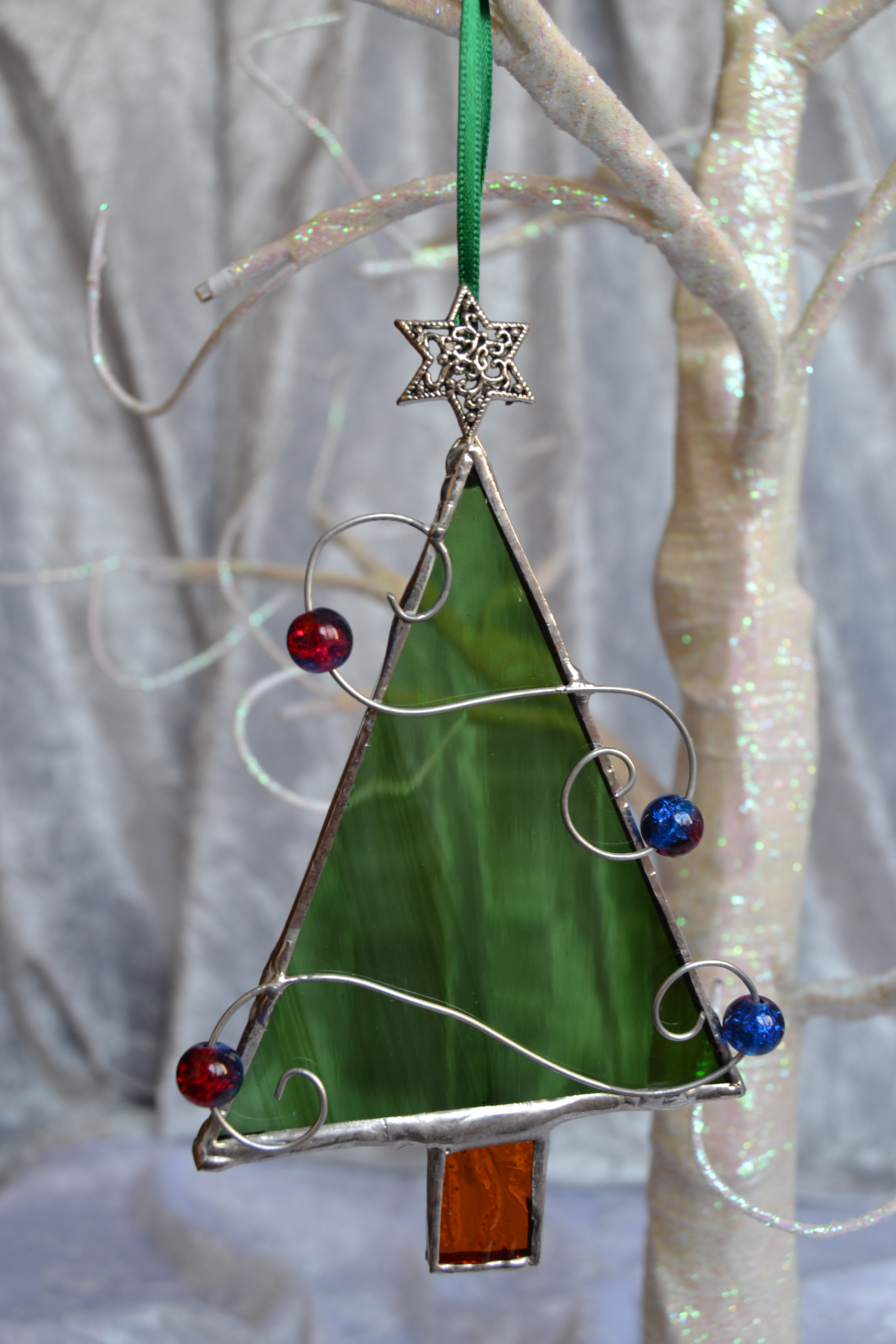 Curled wire Christmas Trees