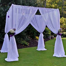 Our chuppah with a modern, industrial chic - The Steelworks