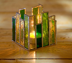 Art deco style candle votive