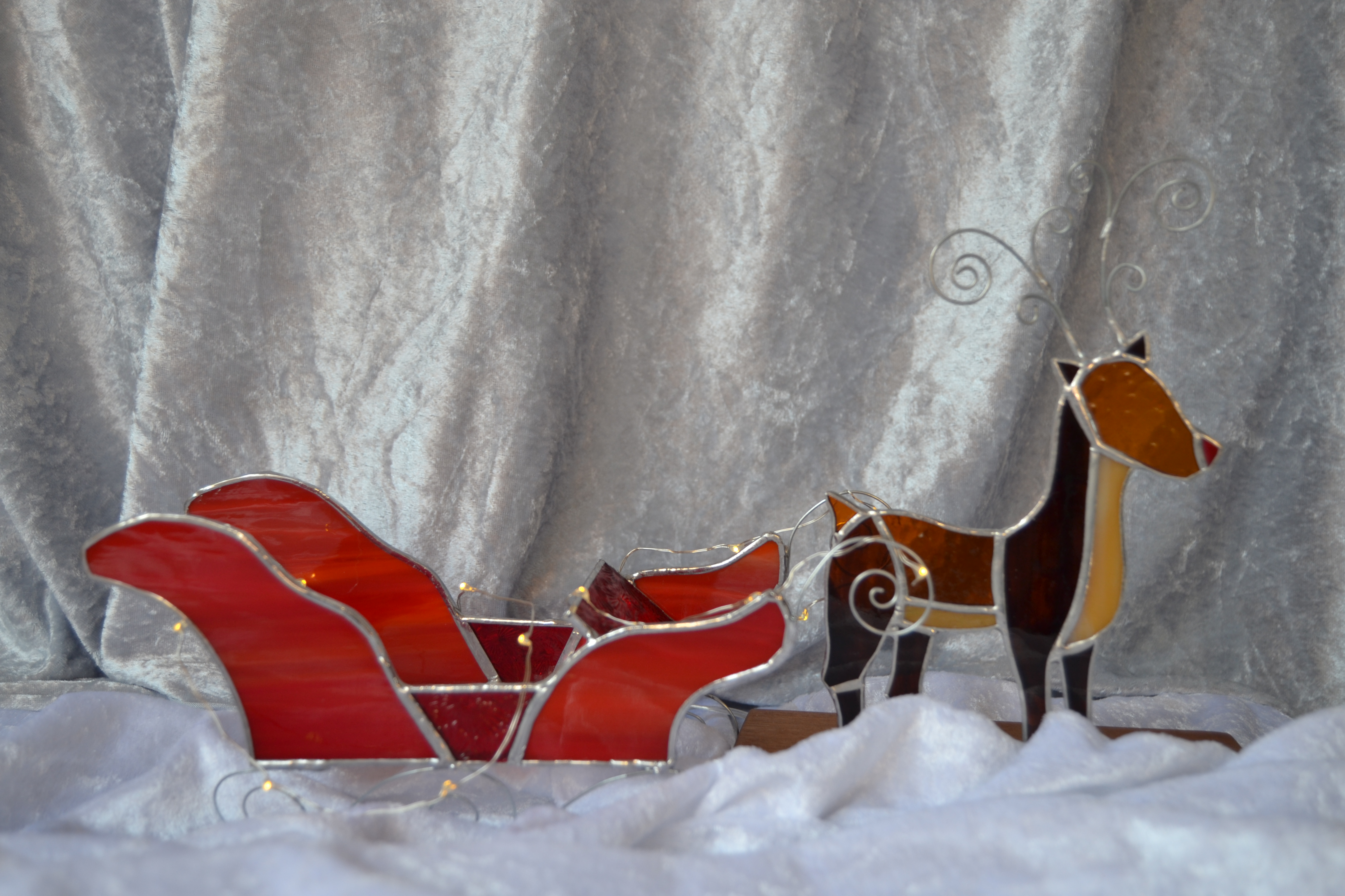 Sweetie sleigh and Rudolph