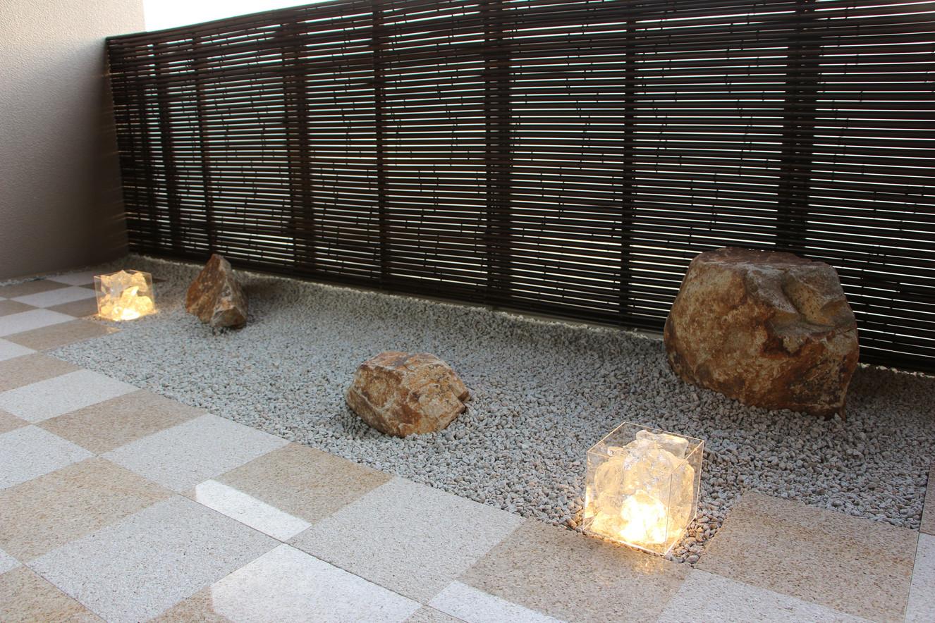 05/28 石畳文様の庭 ガーデン&エクステリア工事