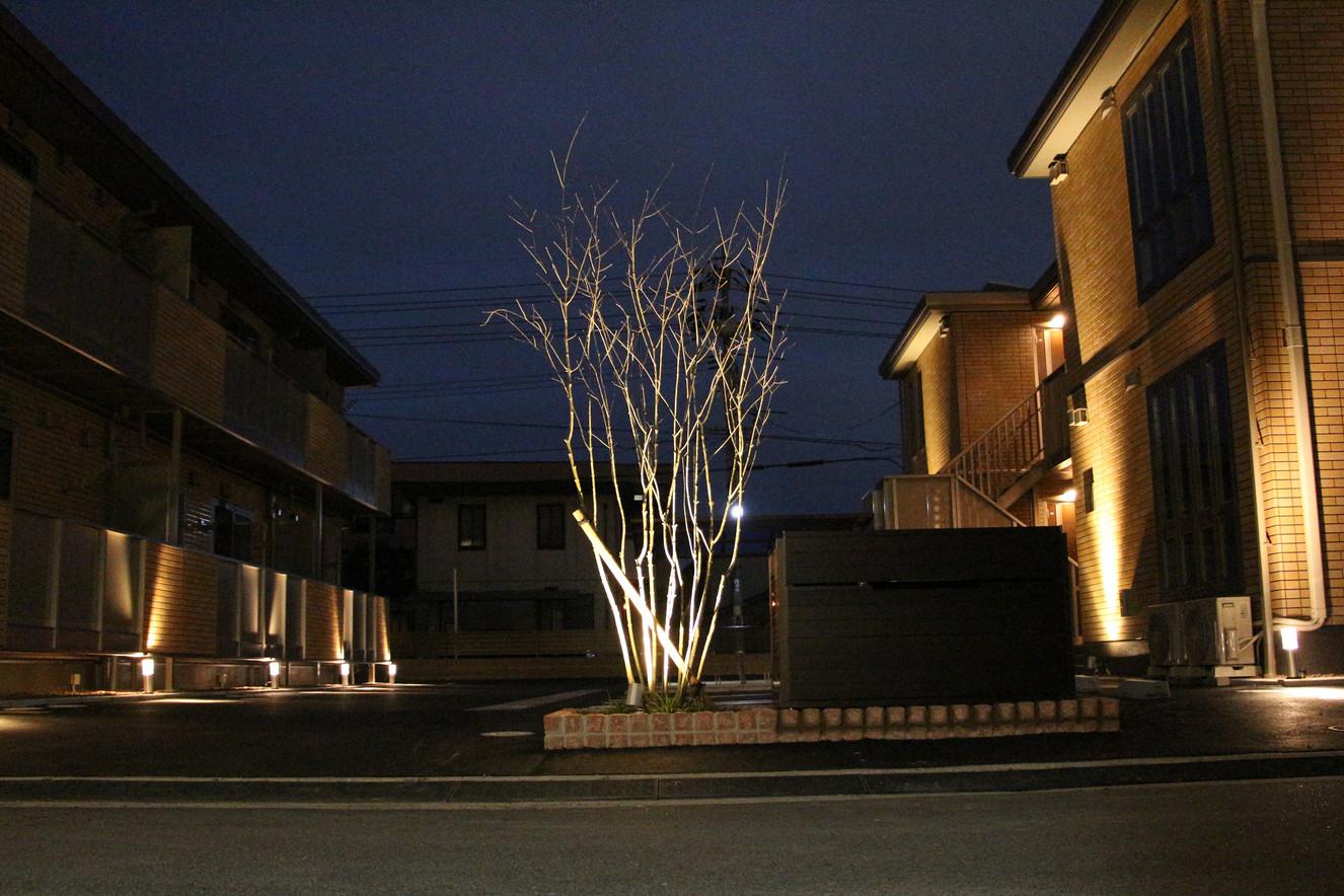 01/13 集合住宅の緑とあかり ガーデン工事+照明計画